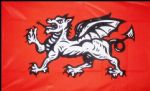 ENGLISH WESSEX DRAGON - 5 X 3 FLAG